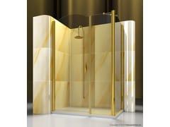 Box doccia angolare su misura in vetro temperato GOLD A2+FD - Gold