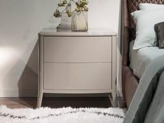 Comodino in legno con cassettiGOLD | Comodino con cassetti - LINEA & CASA +39