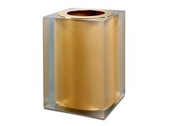 Pattumiera in resina GOLD GLOSS | Pattumiera in resina - GOLD GLOSS