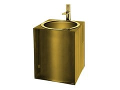 Lavabo sospeso in resina GOLD GLOSS | Lavabo - GOLD GLOSS