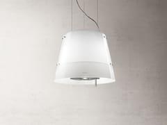 Cappa ad isola in acciaio inox in stile moderno con illuminazione integrata classe BGRACE - ELICA