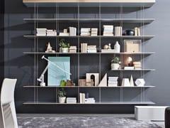 Libreria sospesa in acciaio e legnoGRADUATE - MOLTENI & C.