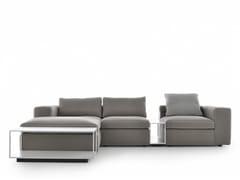 Divano componibile in tessuto a 3 posti con chaise longueGRAFO | Divano con chaise longue - MDF ITALIA