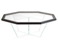 Tavolino ottagonale in vetro da salottoGRAN DUCA   Tavolino ottagonale - PRESTIGE