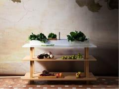 Mobile lavabo in rovere e legno masselloGRAND ÉTABLI AUGE - OBJETS ARCHITECTURAUX