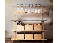 Modulo cucina freestanding in rovere e legno masselloGRAND ÉTABLI | Modulo cucina freestanding in legno - OBJETS ARCHITECTURAUX