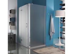 Box doccia in vetro temperato con parete fissaGRAND POLARIS   Box doccia in vetro temperato - SAMO