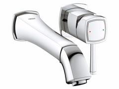 Miscelatore per lavabo a 2 fori monocomando GRANDERA™ SIZE M | Miscelatore per lavabo a muro - Grandera™
