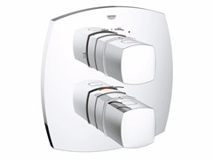 Rubinetto per doccia a 2 fori termostatico con piastra GRANDERA™ 19937_ | Miscelatore per doccia - Grandera™