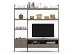 Parete attrezzata in alluminio con porta tv GRAVITY | Parete attrezzata con porta tv - Gravity