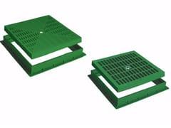Kit griglia e telaio per pozzetto in polipropilene KIT GRIGLIA/TELAIO VERDE - Pozzetti, coperchi, griglie e telai