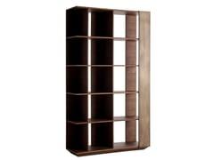 Libreria bifacciale modulare in legno impiallacciatoGROOVE - G.&F.