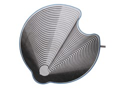 Tappeto in lana GROOVED CIRCLE 002 - Home