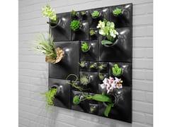 Vaso da parete modulare in gres ceramicoGUNMETAL WALL - PANDEMIC DESIGN STUDIO