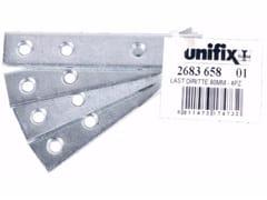 Lastrine diritte fascettate in acciaio zincatoLastrine diritte fascettate - UNIFIX SWG