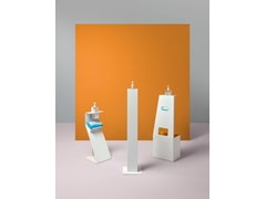 Totem igienizzante in metalloGel dispenser stand - PLANNING SISPLAMO