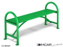 Panchina in acciaio zincato senza schienale Panca Genius - City