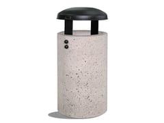Portarifiuti in cemento con coperchio per esterniGIOVE - DIMCAR