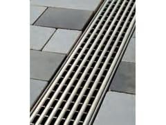 Griglia a barre longitudinali in acciaio Griglia ccon profilo a U - ACO DRAIN ® Multiline