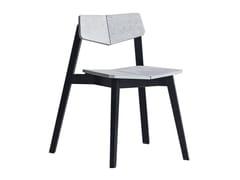 Sedia in calcestruzzo con schienale apertoH   Sedia in calcestruzzo - BENTU DESIGN