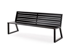 Panchina in metallo con schienaleH24 | Panchina - URBANTIME