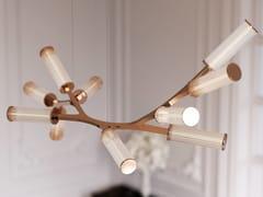 Lampada a sospensione a luce diretta in ottoneHAARA TEN - CAMERON DESIGN HOUSE