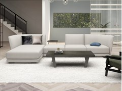 Divano componibile in tessuto a 4 posti con chaise longueHALLE | Divano componibile - GRADO DESIGN FURNITURES