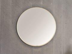 Rexa Design, HALO Specchio rotondo a parete con cornice in lamina di bronzo