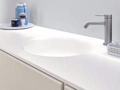 Lavabo rotondo in Korakril™ con pianoHAMMAM | Lavabo con piano - REXA DESIGN