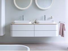 Mobile lavabo doppio sospeso con cassetti HAPPY D.2 PLUS | Mobile lavabo doppio - Happy D.2 Plus