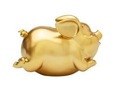 Salvadanaio in resina HAPPY PIG GOLD - KARE-DESIGN