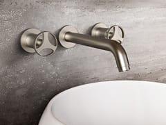 Rubinetto per lavabo a 3 fori a muro con rosette separateHARLEY | Rubinetto per lavabo a muro - GRAFF