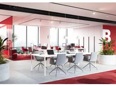 Sedia ufficio in tessuto con ruote su trespoloHARMONY MODERN 870-F75 - LD SEATING