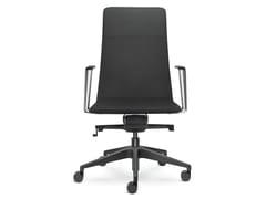 Sedia ufficio imbottita in pelleHARMONY PURE 852-H - LD SEATING