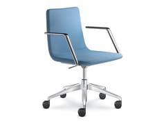 Sedia ufficio imbottita in tessutoHARMONY PURE 855-RA F80-N6 + BR-820 - LD SEATING