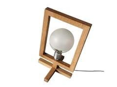 Lampada da tavolo a luce diretta alogena in rovereHE - ARKOF LABODESIGN
