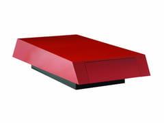 Tavolino laccato in legno impiallacciato da salotto HELIS | Tavolino - Les Contemporains
