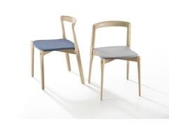 Sedia impilabile in legnoHELIX - B-LINE