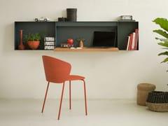 Scrittoio / mensola in alluminio e legnoHELLA - TRUE DESIGN