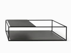 Tavolino da giardino rettangolare in acciaio HELSINKI 15 | Tavolino da giardino - Helsinki
