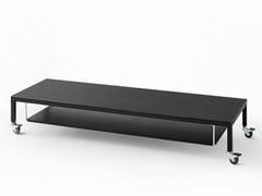 Tavolino basso rettangolare con ruote HELSINKI 30 | Tavolino con ruote - Helsinki