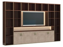 Libreria a giorno in legno con porta tv HERA - CAPITAL COLLECTION IS A BRAND OF ATMOSPHERA