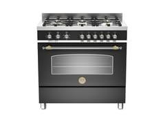 Cucina a libera installazione professionale in acciaio inoxHERITAGE - HER90 6HYB SNE T - BERTAZZONI