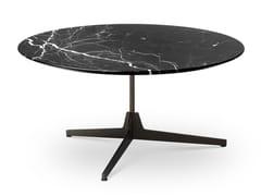 Tavolino rotondo in marmo con base a 3 razzeHEXA   Tavolino rotondo - SABA ITALIA