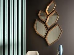 Specchio in legno e vetro da pareteHEXAGON - ARTE BROTTO MOBILI