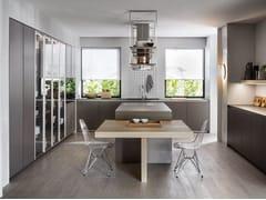 Cucina con isola senza maniglie HI-LINE6 -