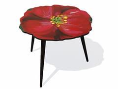 Tavolino di servizio in HPL e faggio HIBISCUS L - Flora
