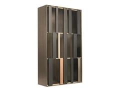 Parete attrezzata modulare in legno con illuminazione integrataHIDE - SHAKE