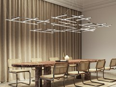 LAMPADA A SOSPENSIONE A LED IN ALLUMINIOHILOW - PANZERI