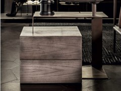 Comodino rettangolare in legno con cassettiHIO | Comodino - SHAKE